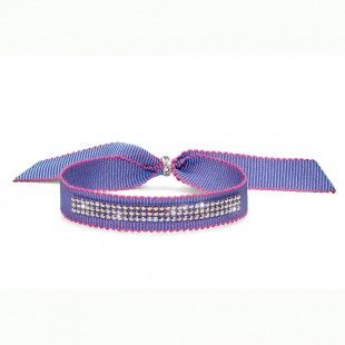 Oliver Weber Women funny violet ribbon bracelet drolly with Swarovski Crystals