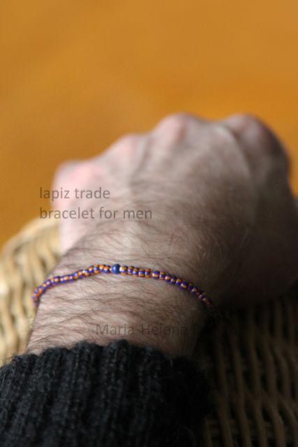Lapiz trade small bracelet for men // Maria-Helena Design