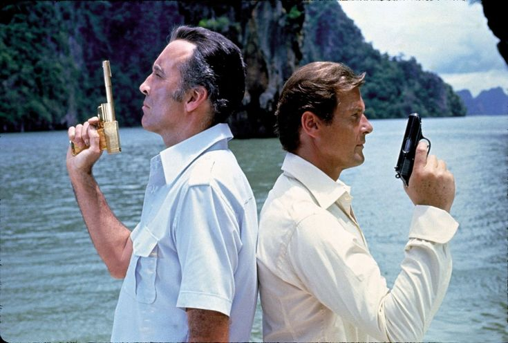 The Man With The Golden Gun sees Christopher Lee as Scaramanga and Roger Moore as James Bond