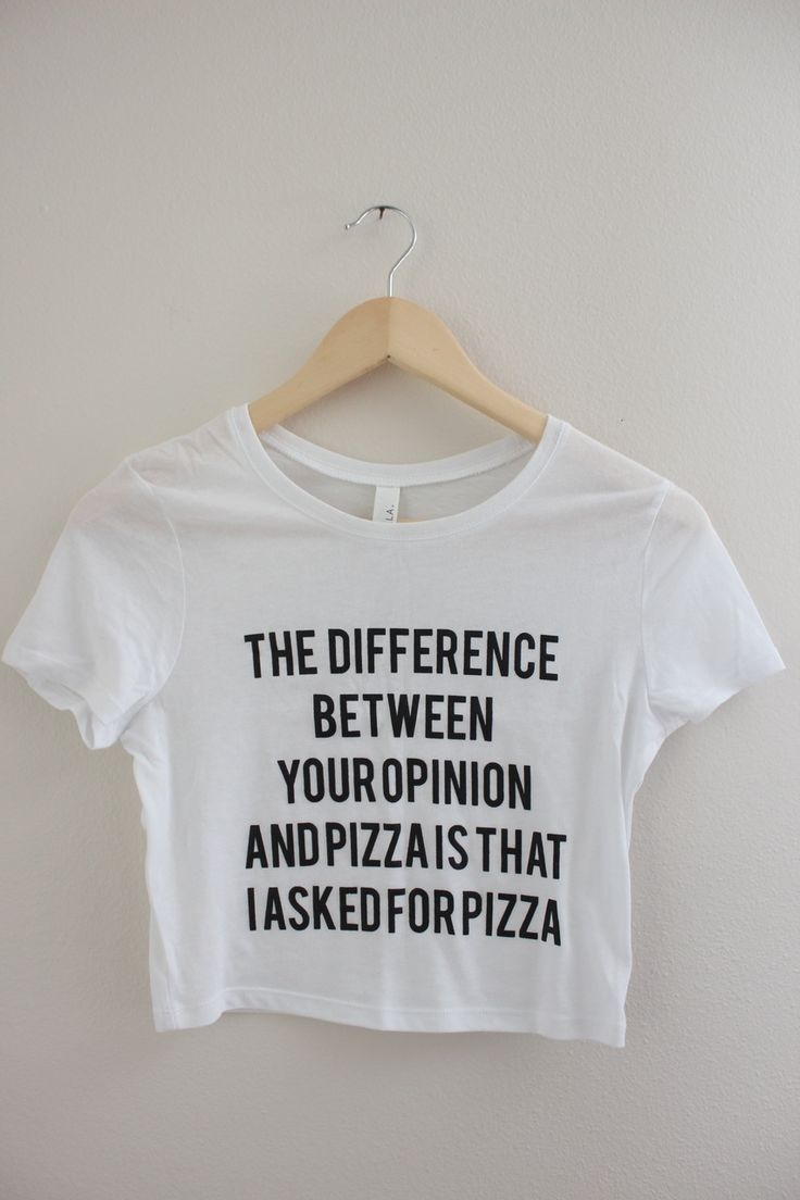 Your Opinion or Pizza Graphic Crop Top - Olivia Rose Inc