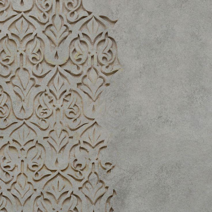 Behangfabriek Detail Oude Muur Stuc Ornament Behang In