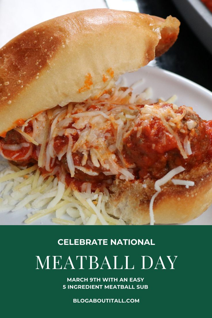 Meatballs for Dinner Happy National Meatball Day! in