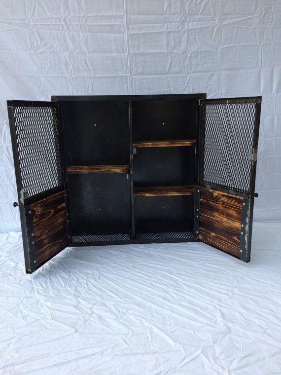 Armoire rustique liqueur récupéré armoire industriel rack