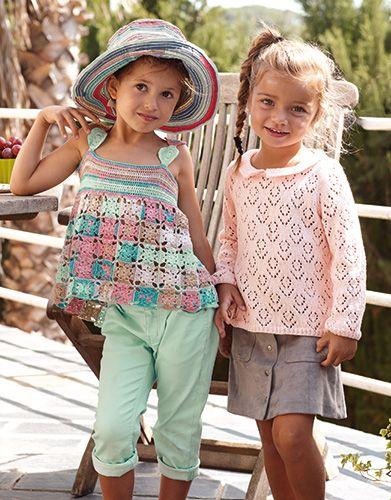 Revista Niños 77 Primavera / Verano | 11: Niños Top | Rosa-Azul-Camel
