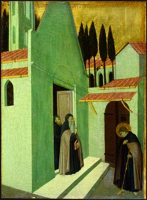 Master of the Osservanza (Sano di Pietro?)  Saint Anthony Leaving His Monastery, c. 1430/1435, National Gallery of Art in Washington