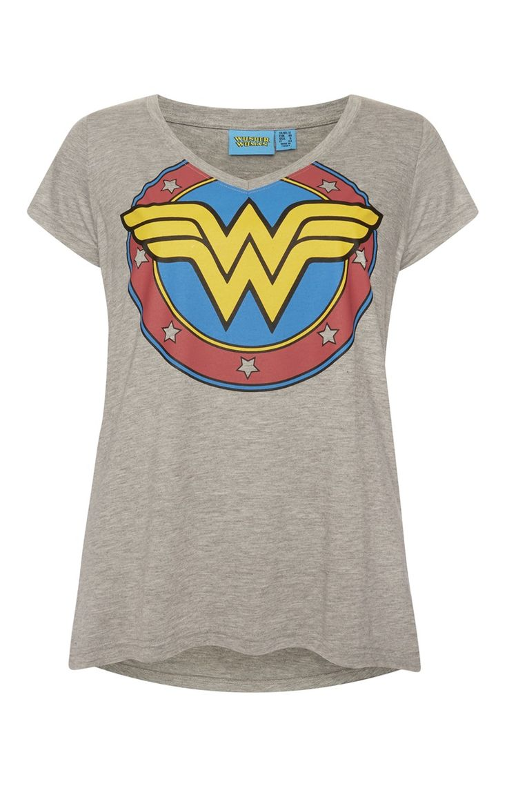 "Primark - ""Wonder Woman"" T-Shirt in Grau"