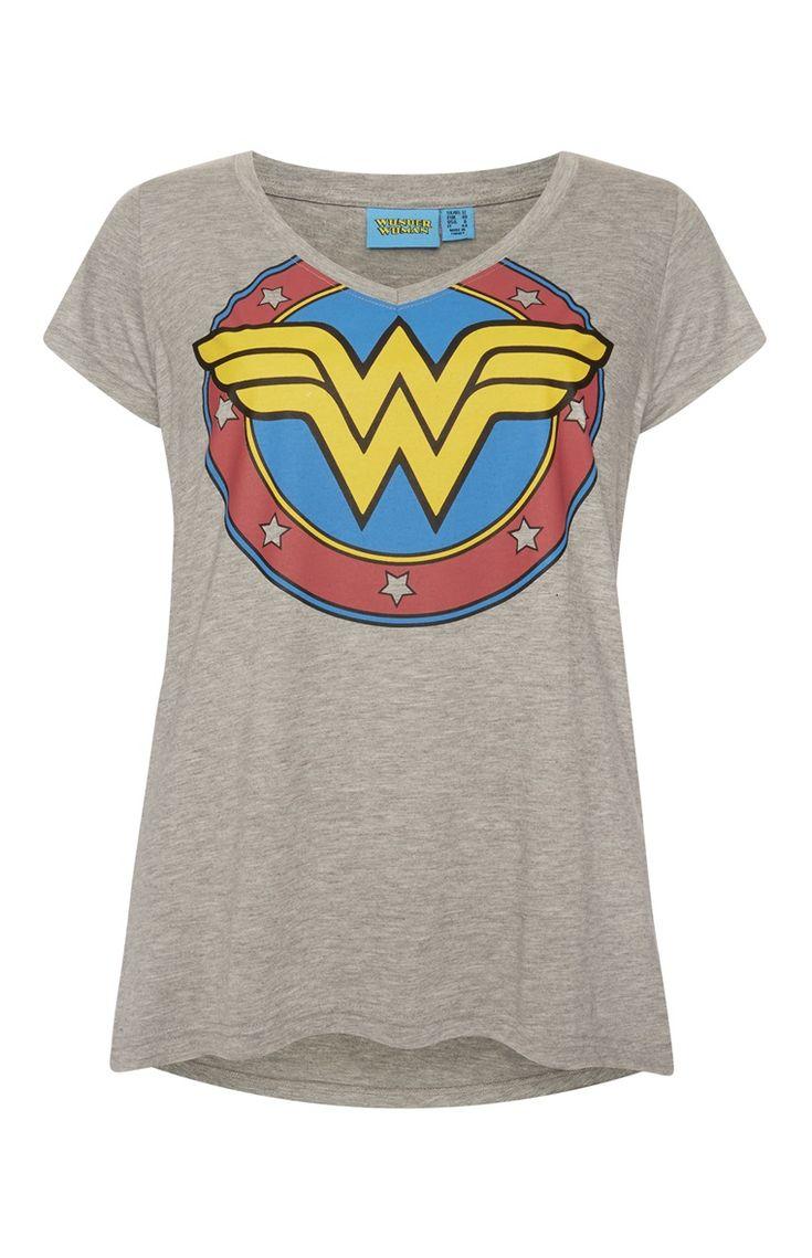 "Primark - ""Wonder Woman"" T-Shirt in Grau"