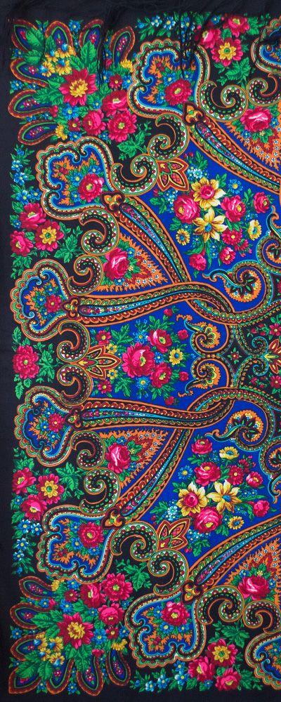 "Rare vintage Russian shawl called Anniversary or Jubilee (""Юбилейная"")"