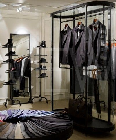 Lanvin Menswear Showroom, Savile Row, London, Architecture et Associes, 2008, View of Display Cabinet / c: Ed Reeve