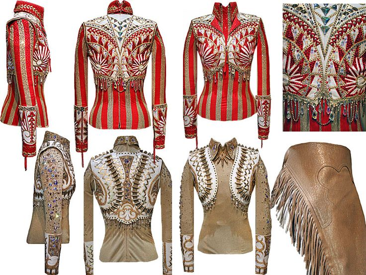 Deanna Green's Outfits Gold, Red & White Shirt Set $7995.00