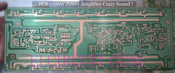 PCB Layout power amplifier 1700W