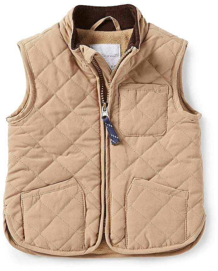 6b8398dd3176 Starting Out Baby Boys 12-24 Months Peached Quilted Vest