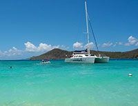 St Thomas catamaran sailing Tours $120 whole day, $100 brunch half day