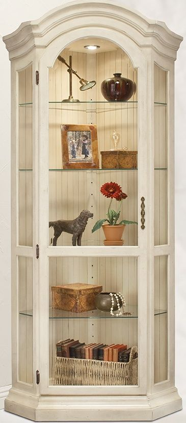 I need a curio cabinet, too: Philip Reinisch Color Time Panorama - Modern Corner Curio Display Cabinet in Hardwood