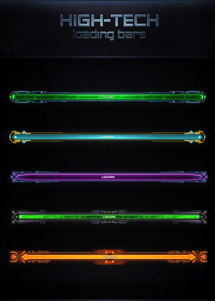 High-Tech Loading Bars by VengeanceMK1 on DeviantArt
