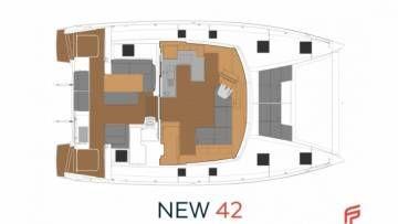 New 42 Fountaine Pajot sailing catamaran  - cockpit area