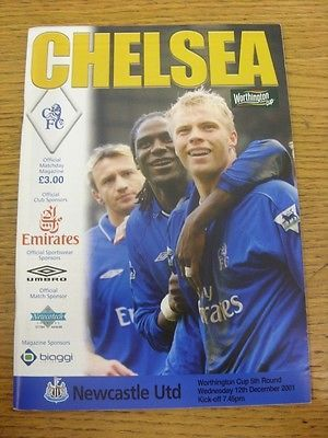 #12/12/2001 chelsea v newcastle #united [football league cup] . #footy progs/bobf,  View more on the LINK: http://www.zeppy.io/product/gb/2/311713160696/