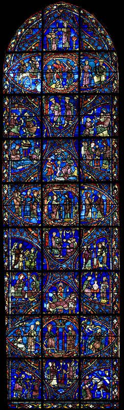 #Chartres Cathedral #Stained #Glass - Bay 28b Key (The Life of the Virgin)