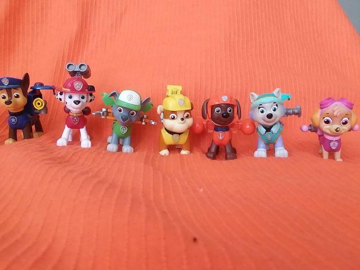 Nickelodeon Paw Patrol Action Pack Pups 7pk Figure Set #SpinMaster