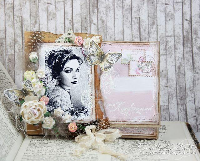 Vakre Maribel på konfirmasjonskort - Camilla Støen Bakke - Stempelglede :: Design Team Blog