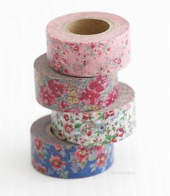 Mini Romantic Vintage Floral MASTÉ Japanese Washi Tape