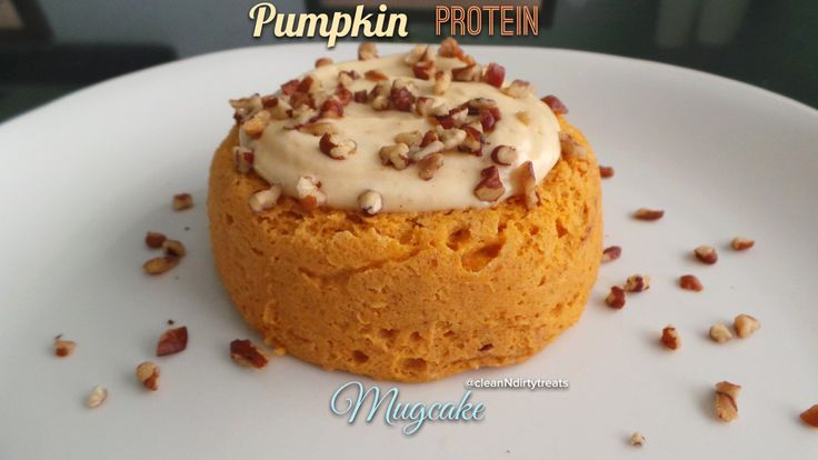 Pumpkin Protein Mugcake 1 tbsp Kodiak Cakes Protein Packed Flapjack mix  1 tbsp coconut flour  2 tbsp About Time Vanilla Whey Isolate Protein (get 25% off your order using coupon code: cleanNdirtytreats at checkout!)  3 tbsp liquid egg whites  1/2 cup canned pumpkin  1/2 tsp baking powder  1 full drop NuNaturals Vanilla Stevia drops  Splash of Silk Unsweetened Cashew Milk