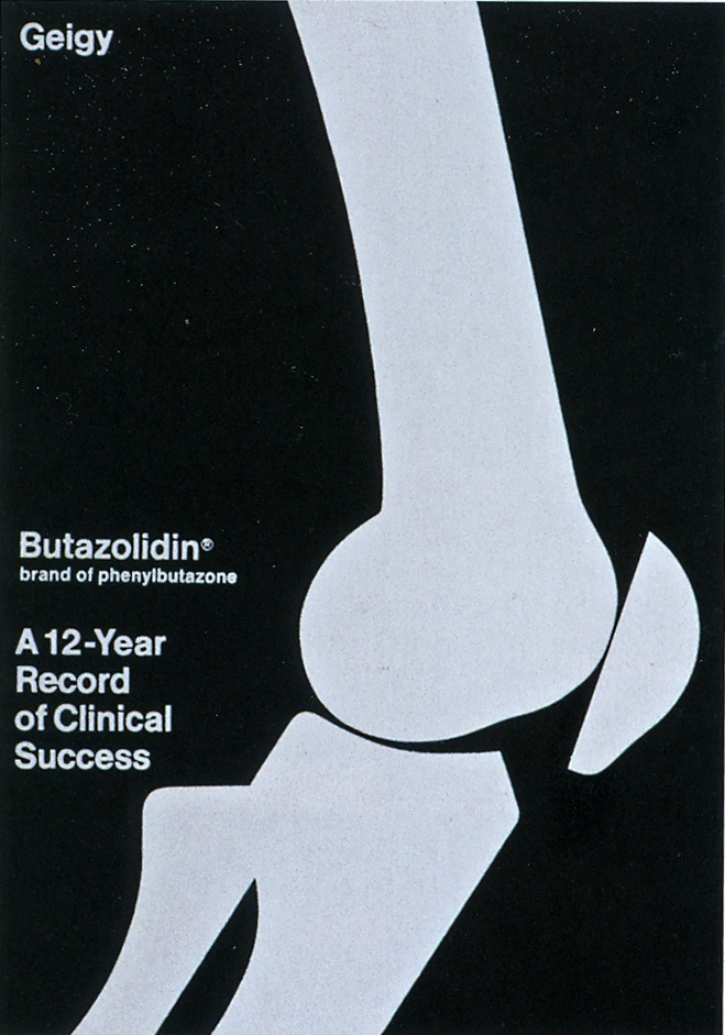 Butazolidin Brochure, Designed by John Greiner, 1964