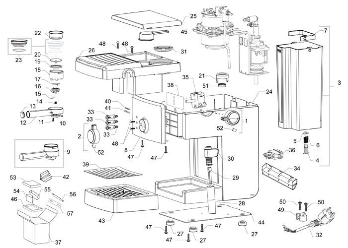 Saeco Poemia Black Ss Parts Diagram Part Diagrams