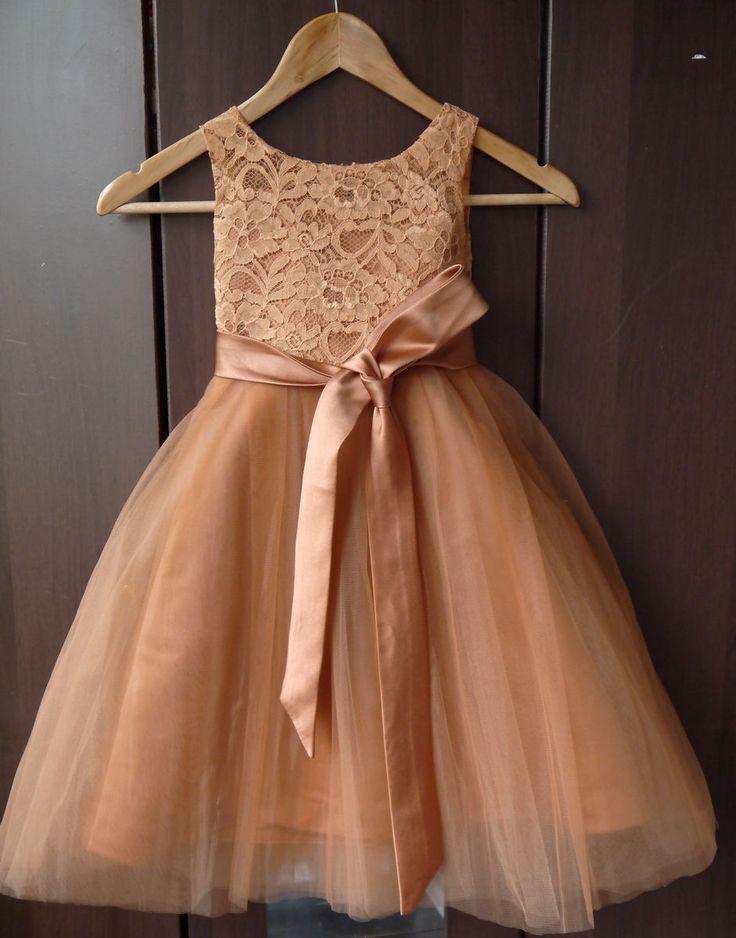 Lace Girl Dress Baptism Dress, Rustic Flower Girl Dress