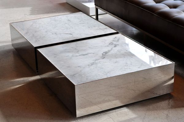 Square Marble Coffee Table Low Profile Modern Coffee Table 2020
