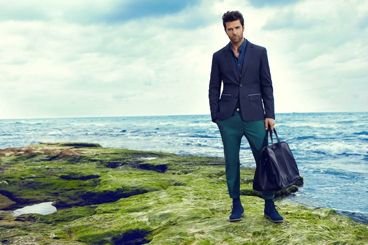 Granatowa marynarka Top Secret - men's casual look