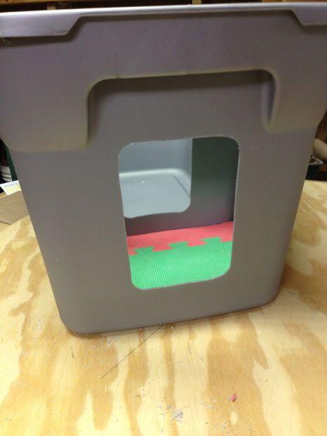 Homemade Rubbermaid Hidden Litter Box