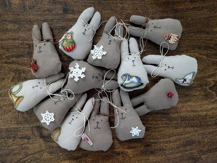 Christmas Tree Ornaments by LaceAnnaStudio