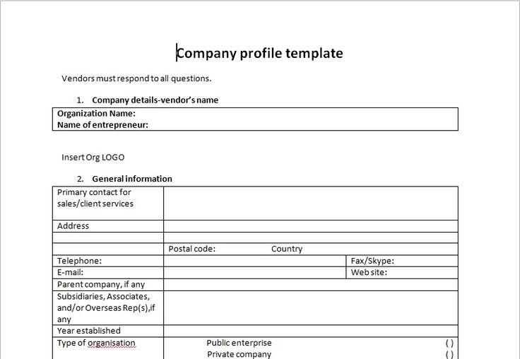 Company Profile Template Microsoft Company Profile Brochure - company profile template microsoft