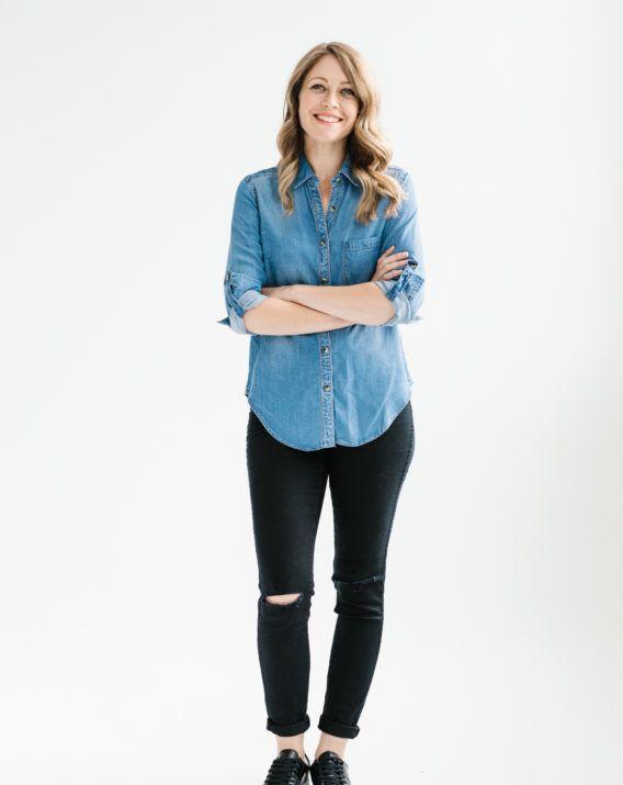 Sara Denim Shirt - Blossom & Glow