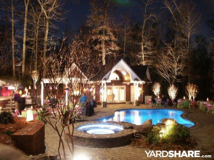 party area pool house pool and grill we built a pool and pool house and transformed a wooded lot to an outdoor space you never want to lea