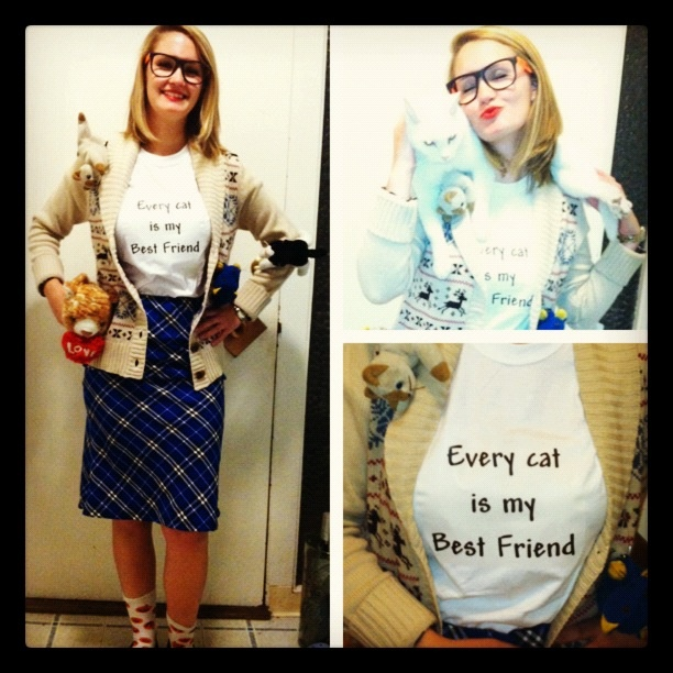 Do I really need the costume or can I show up as myself? DIY Crazy Cat Lady costume.