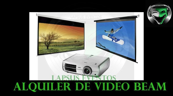 Alquiler de video beam | Lapsus Eventos | Tel: 374 7470 | 300 761 5600 - 301 583 8089 | WhatsApp y Redes Sociales