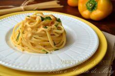 Ricetta spaghetti alla crema di peperoni   Dolce e Salato di Miky