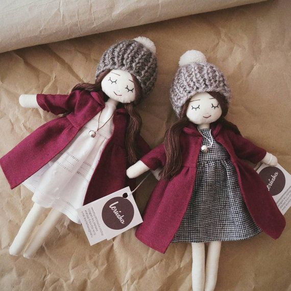 Handmade doll cranberry coats by LerushaShop on Etsy