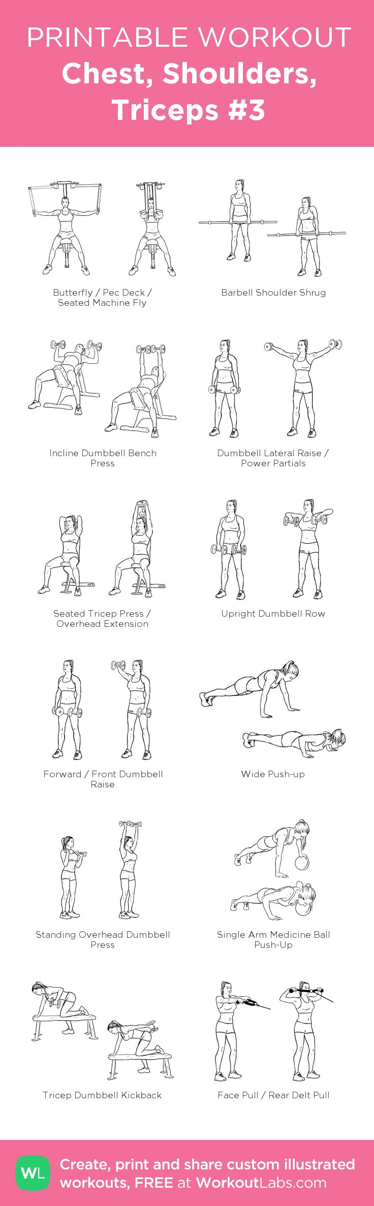 Chest, Shoulders, Triceps #3:
