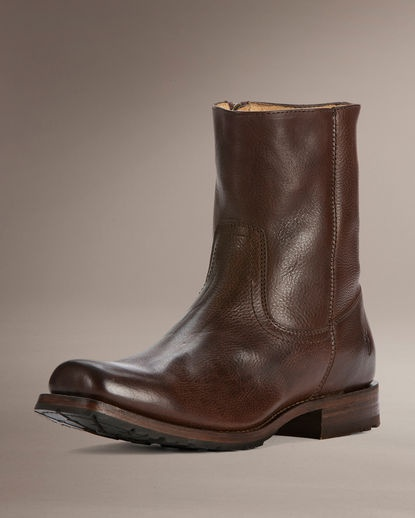 Men's Heath Inside Zip Boot - Dark Brown