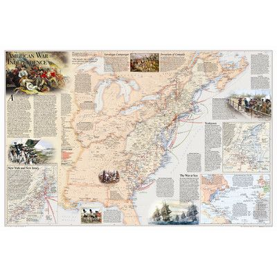 National Geographic Maps Battles of the Revolutionary War & War of 1812 Wall Map (Two Sided) – Wayfair.com