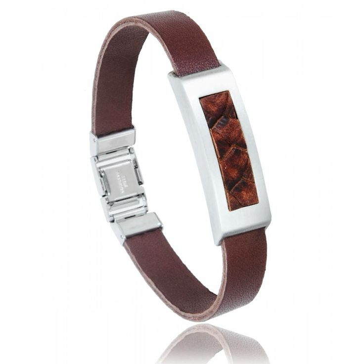Men stainless steel Pulsera red-brown bracelets - Vanderly