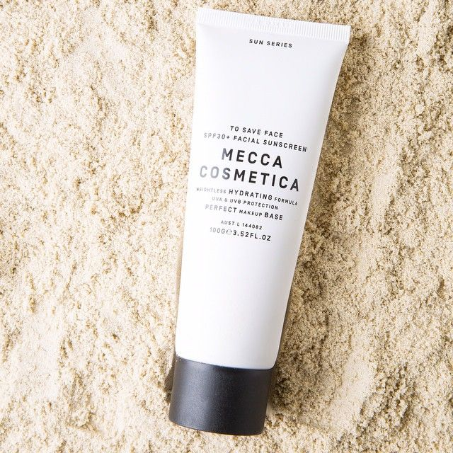 The original beauty sunscreen. #MeccaCosmetica To Save Face SPF 30 is a lightweight, non-greasy and ultra hydrating luxe sunscreen. It is the perfect makeup base while protecting the skin from UV damage #sunscreen #skin #antiageing #livinglabofbeauty