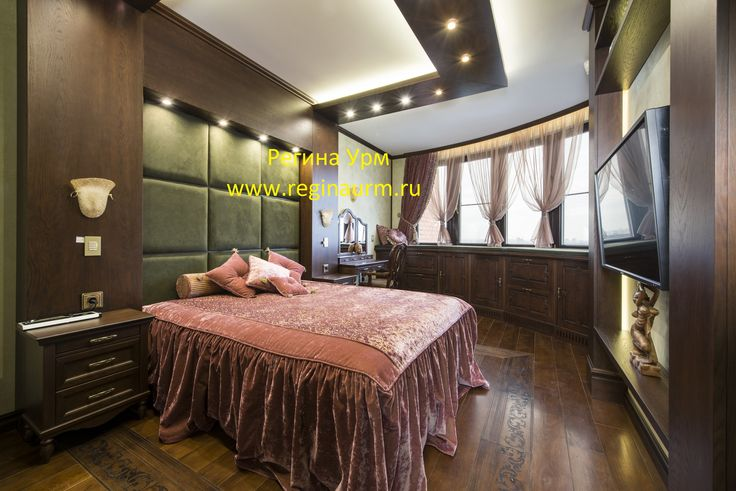 Спальня- английская классика-реализованный проект - дизайнер Регина Урм