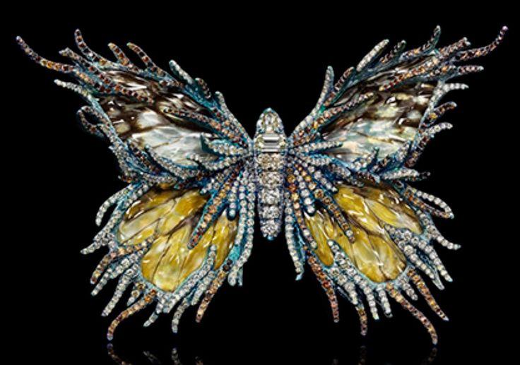Butterfly Brooch by Wallace Chan