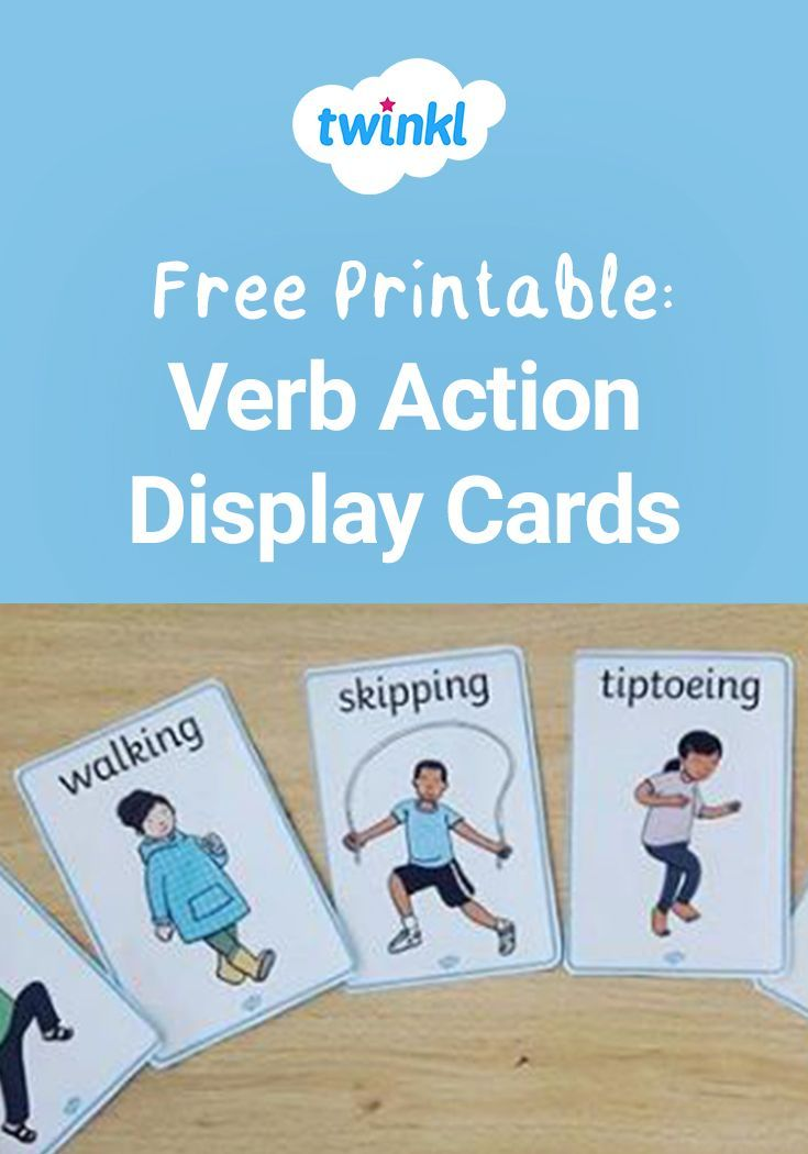 Verb Action Display Posters Verbs For Kids Verbs Speech Therapy Verbs Activities