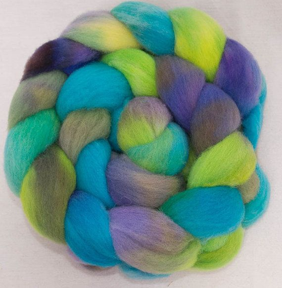Hand dyed spinning wool British Southdown wool top by YummyYarnsUK