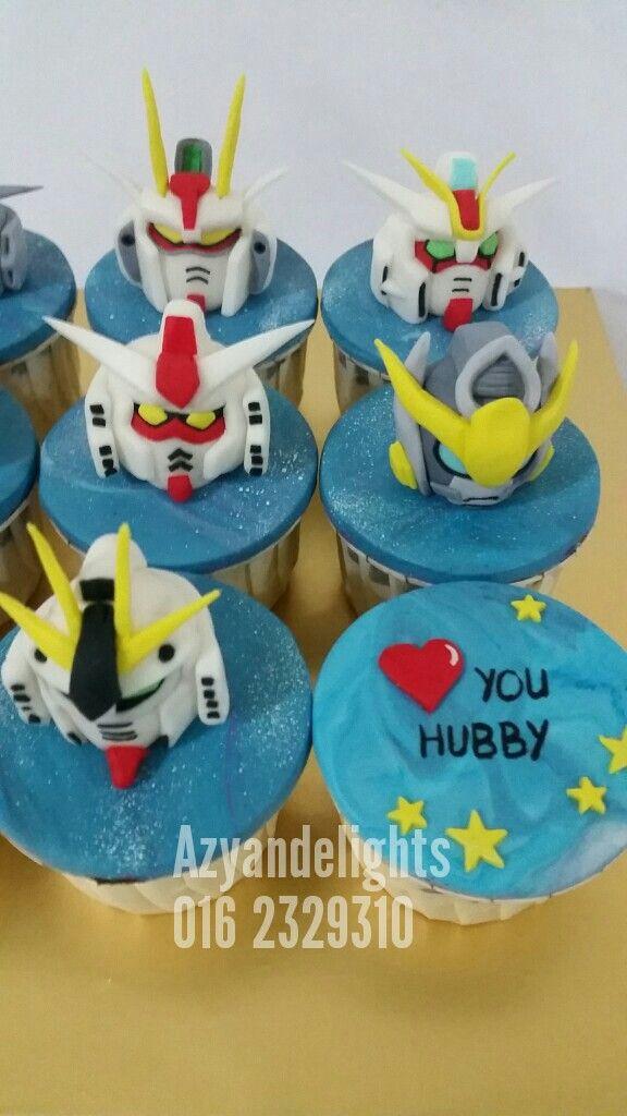 Gundam Cupcakes Topper